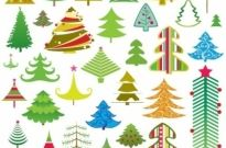 Lovely christmas tree vector Free vector 707.60KB