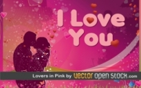 Free vector Vector Heart  Lovers in Pink