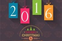 Merry christmas and happy new year 2016 Free vector 4.03MB