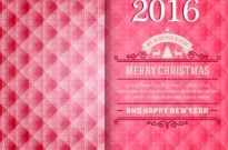 Merry christmas and happy new year 2016 card Free vector 25.03MB