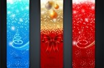 Merry christmas banner Free vector 9.48MB