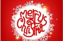 Merry Christmas decoration Free vector 1.82MB
