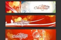Merry christmas website banner set vector Free vector 1.93MB