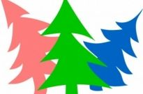 Free vector Vector clip art  Merry New-Year Firs by Rones