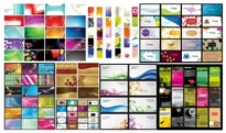 Free vector Vector background  n a variety of card business card background vector