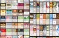 Free vector Vector background  n a variety of card templates vector background