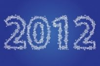 Free vector Vector misc  New Year 2012 Made of Snowflakes