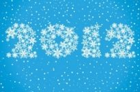 Free vector Vector misc  New Year 2012 Made of Snowflakes Vector Graphic