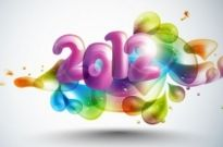 Free vector Vector abstract  New Year Abstract 2012 with Colorful Design