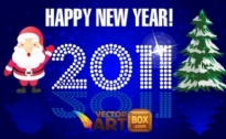 Free vector Vector misc  New Year Card