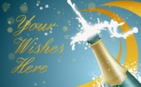 Free vector Vector misc  New Year Champagne