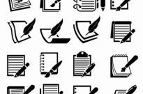 Free vector Vector icon  Notebook and Pen icon set