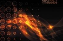 Free vector Vector background  Orange glare vector background