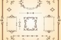 Free vector Vector floral  Ornate Borders and Scrolls
