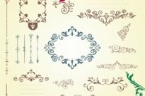 Free vector Vector floral  Ornate Swirl Frames