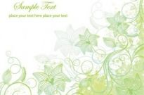 Free vector Vector floral  Pale Green Floral Vector Illustration