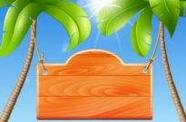 Free vector Vector background  palm tree background
