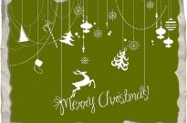 Paper merry christmas card decor Free vector 5.64MB