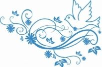 Free vector Vector floral  peace dove