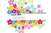 Free vector Vector background  Petals Background