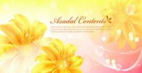 Free vector Vector background  Pink banners with flowers