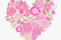 Free vector Vector floral  Pink Floral Heart Vector Graphic