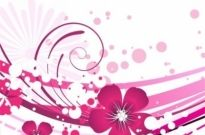 Free vector Vector flower  Pink Flower with Abstract Background Vector Graphic