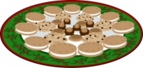 Free vector Vector clip art  Plate of Yummies