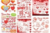 Free vector Vector Heart  practical elements of vector 3 valentine day
