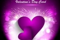 Free vector Vector background  Purple Valentine's Day greeting card