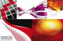 Free vector Vector background  Red grid background vector graphics