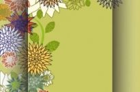 Free vector Vector background  Retro floral background vector
