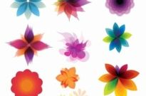 Free vector Vector abstract  Retro Floral Ornaments