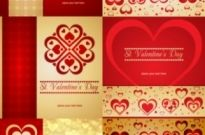 Free vector Vector background  romantic heartshaped background pattern vector