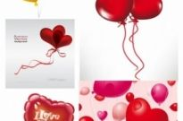 Free vector Vector Heart  romantic heartshaped balloons vector