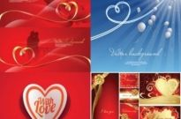Free vector Vector background  romantic heartshaped ribbon background vector