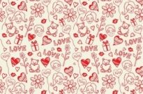 Free vector Vector pattern  Romantic Love Seamless Pattern Vector