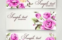 Free vector Vector background  Romantic Rose pattern vector background