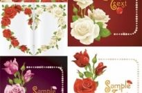 Free vector Vector misc  romantic roses greeting cards vector