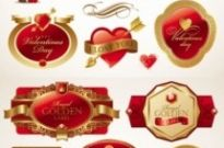 Free vector Vector Heart  romantic valentine39s day red label vector