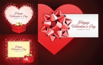 Free vector Vector Heart  romantic valentine day gift card vector
