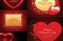 Free vector Vector Heart  romantic valentine day love card vector
