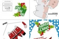 Free vector Vector misc  Santa Claus Paper Craft