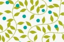 Free vector Vector floral  Seamless Green Floral Pattern Vector Background