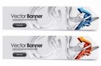 Free vector Vector banner  sense of science and technology background vector 2 banner
