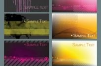 Free vector Vector background  several simple vector graphics card background