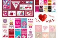 Free vector Vector Heart  several very lovely valentine day vector