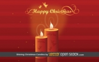 Free vector Vector Christmas  Shining Christmas Candles