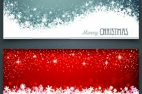 Shiny14 merry christmas banners design vector Free vector 2.73MB