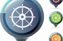 Free vector Vector icon  Ship Wheel Icon